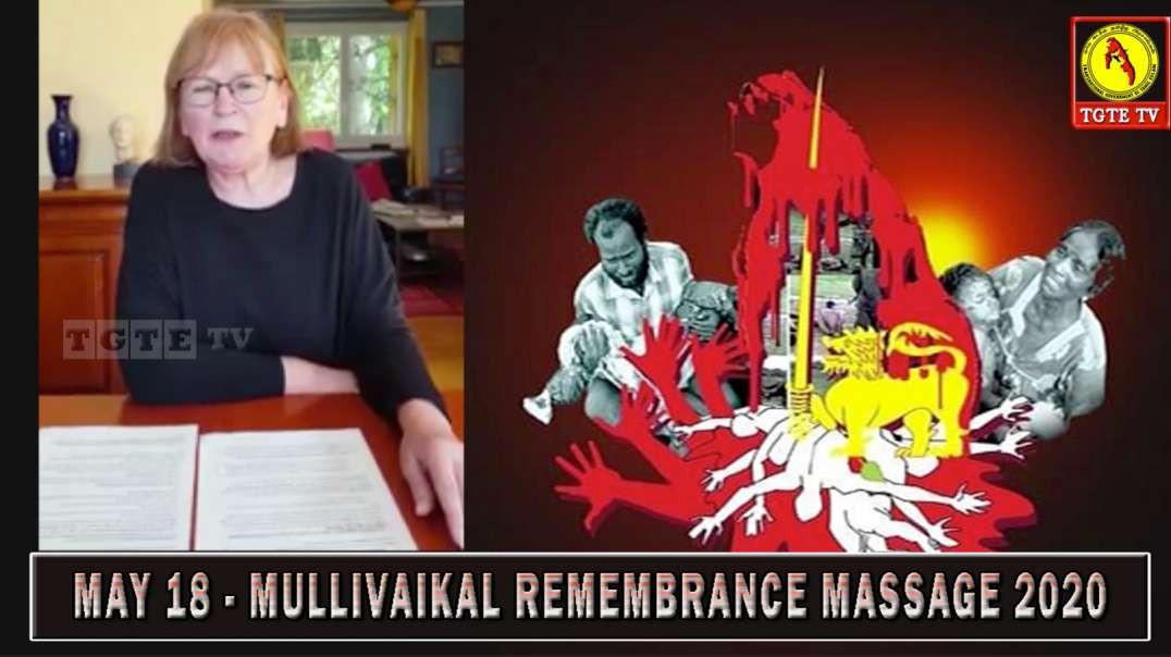 Mme Marie-George Buffet  (Député) Message de Commémoration Mullivaikal