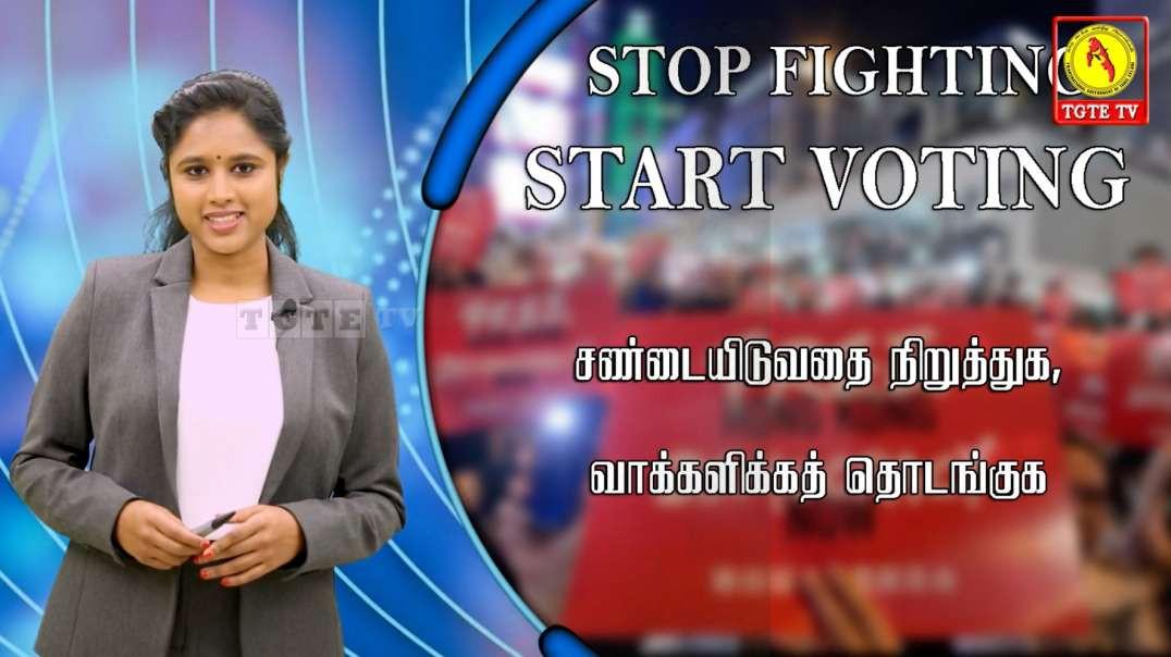 Stop Fighting Start Voting