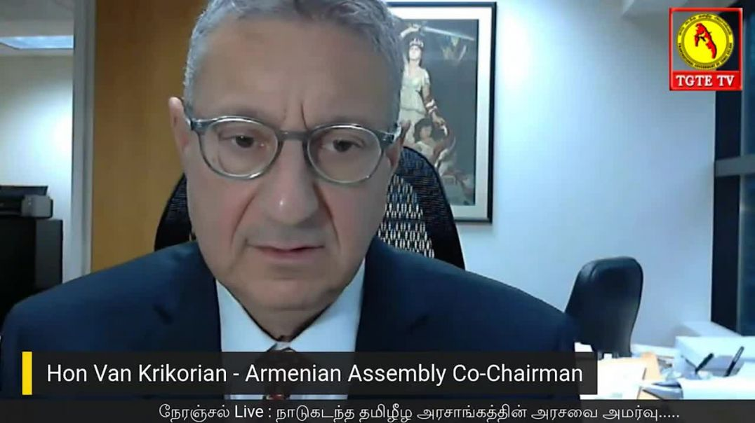 Hon. Van Krikorian  Armenian Assembly Co-Chairman delivers speech.