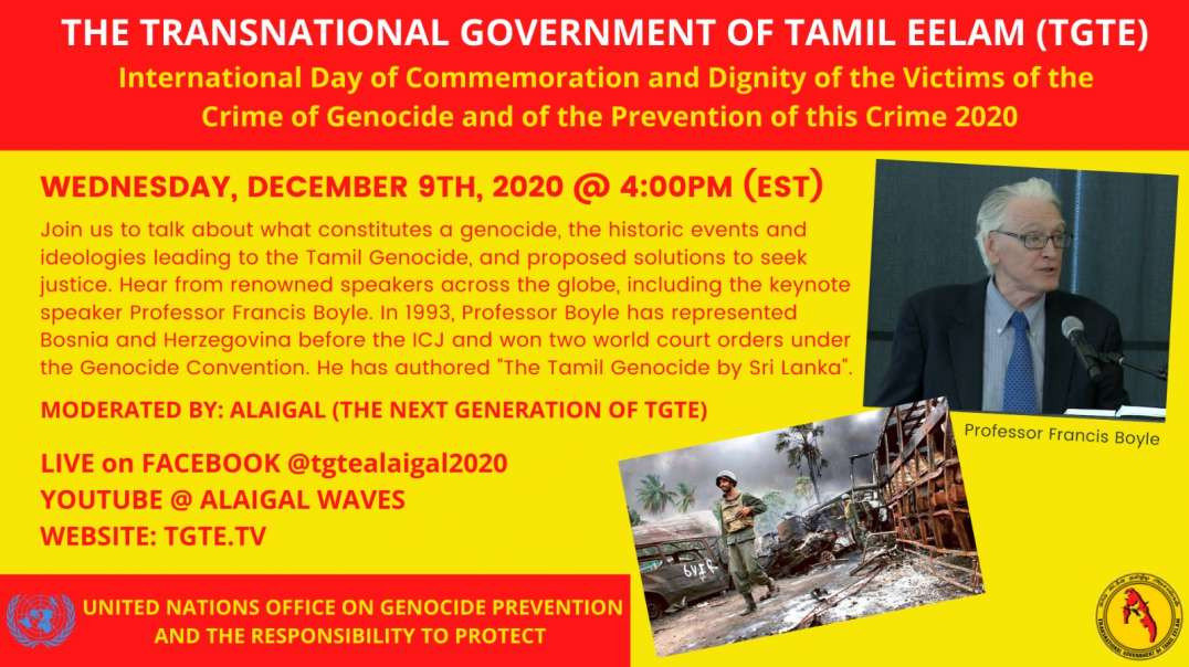International Day of Commemoration and Dignity of the Victims of the Crime of Genocide. 9 Dec.2020