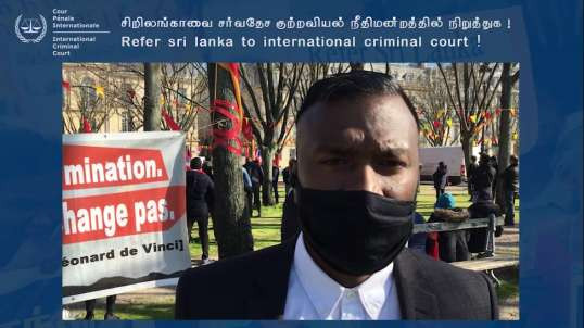 Prostest in France I Tamoul I Sri Lanka I TGTE