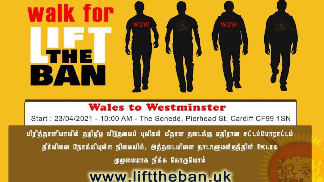 Walk for Lift the Ban | Wales to Westminister (W2W) |24/04/2021 - Day-2