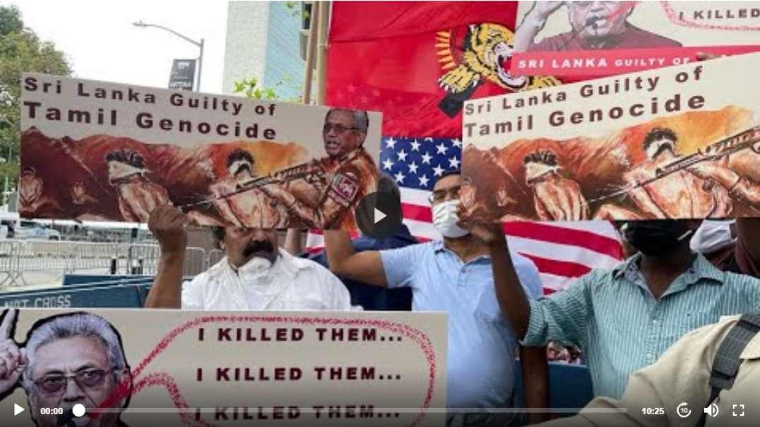 Huge Protest Against Gothabaya Outside UN I TGTE I #GOBackGota